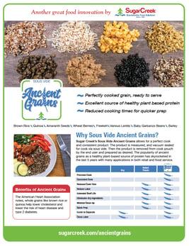 Ancient Grains sales sheet