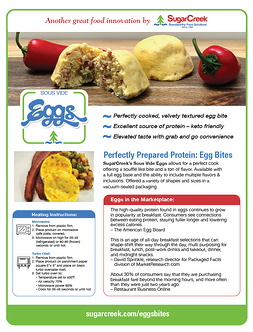 Eggs Bites sales sheet