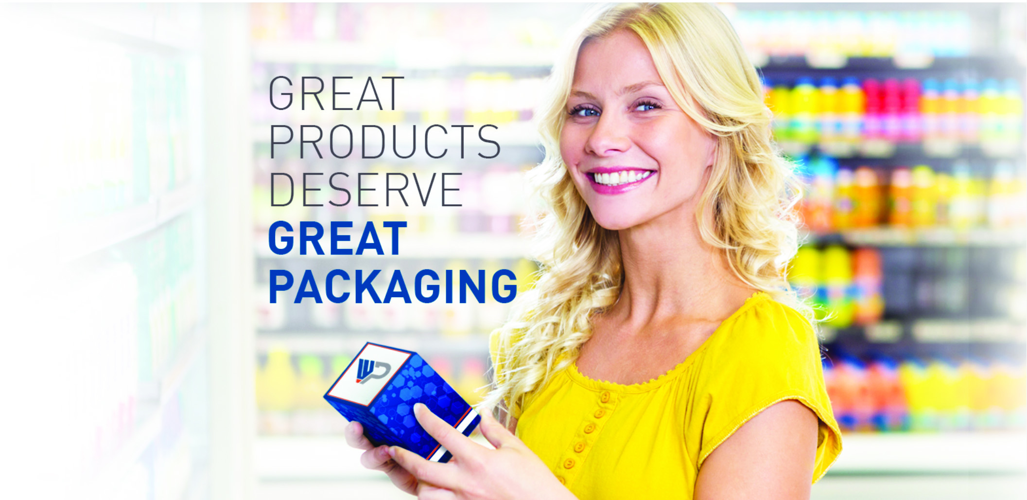 Wingate Packaging, woman with box smiling